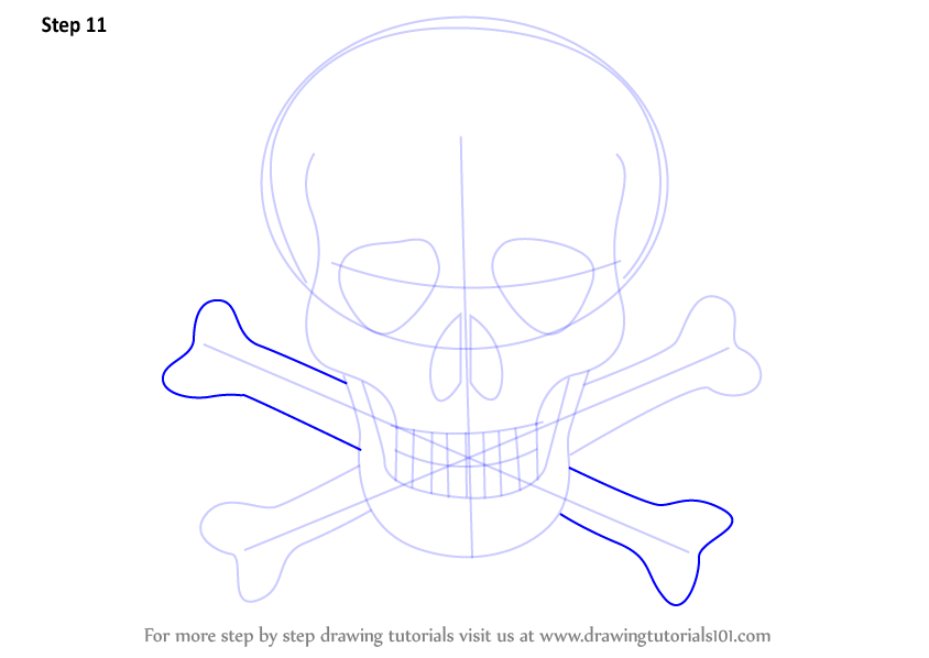 Learn How To Draw Skull With Crossbones Skulls Step By Step