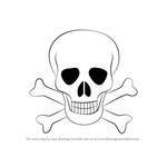 How to Draw Skull with Crossbones