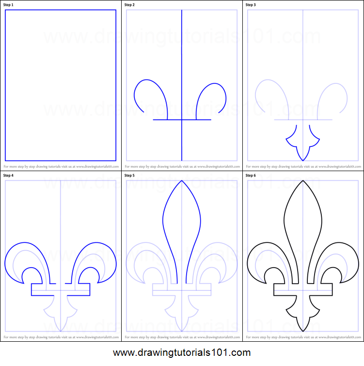 How To Draw A Fleur De Lis For Kids