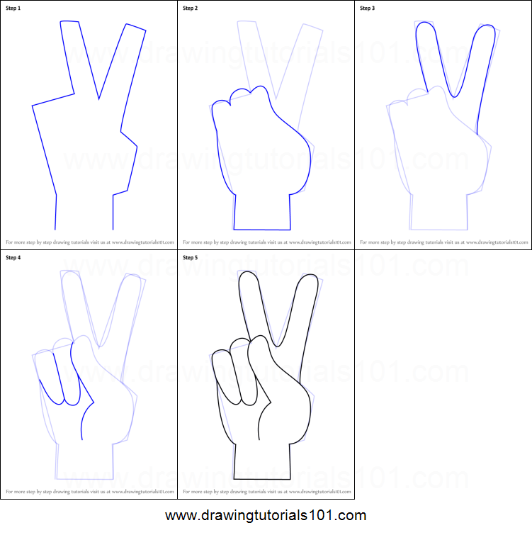 photograph about Hand Printable referred to as How towards Attract Leisure Indicator Hand printable move through move drawing