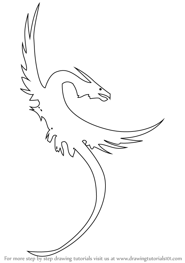 Learn How To Draw A Dragon Tattoo Tattoos Step By Step Drawing