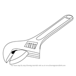 How to Draw an Adjustable Spanner