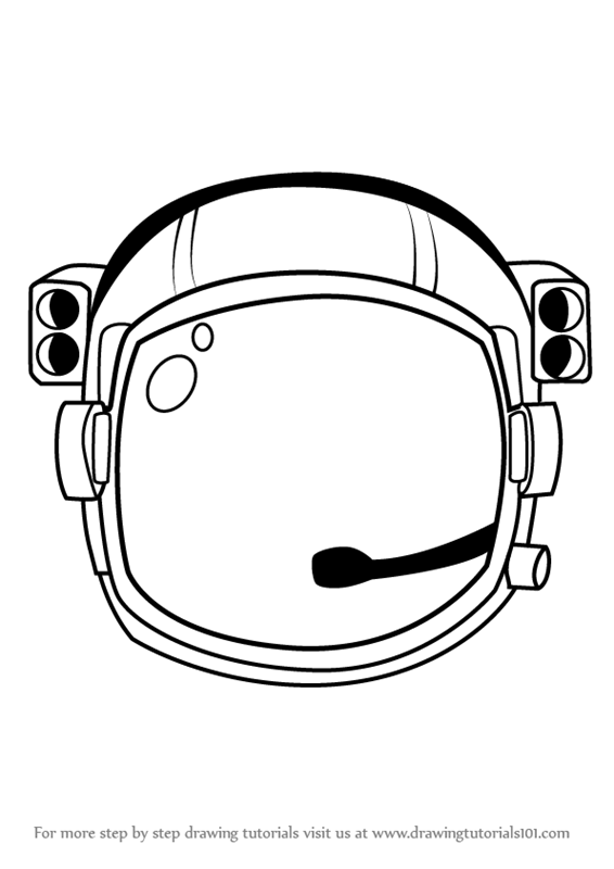 learn how to draw an astronaut s helmet tools step by step