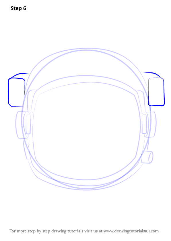 Step By Step How To Draw An Astronaut S Helmet