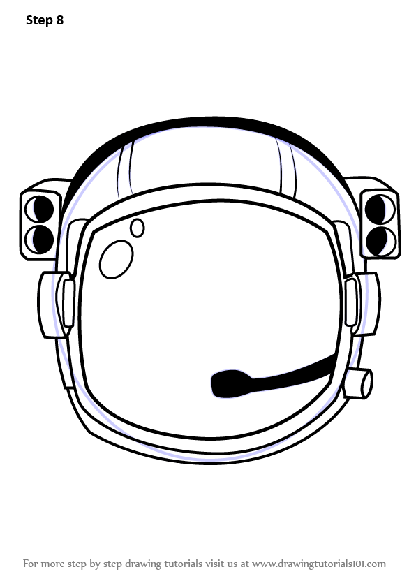 Learn How to Draw an Astronaut's Helmet (Tools) Step by ...