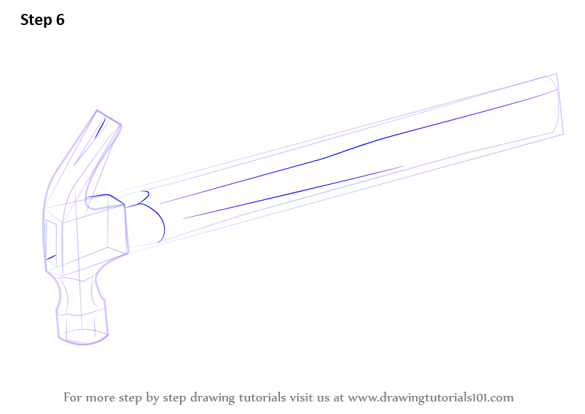 Scribble Drawing Tool : Learn how to draw a hammer tools step by drawing
