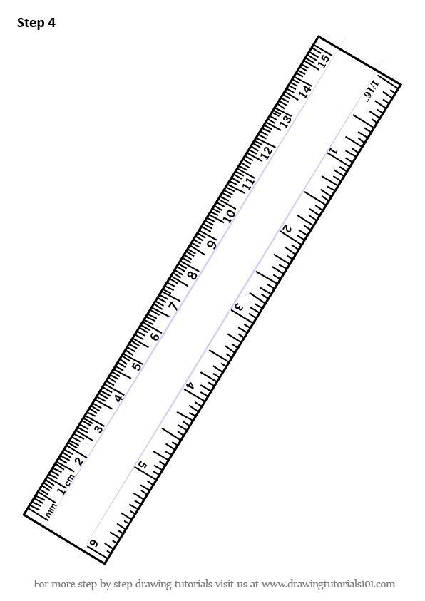 Step By Step How To Draw Ruler