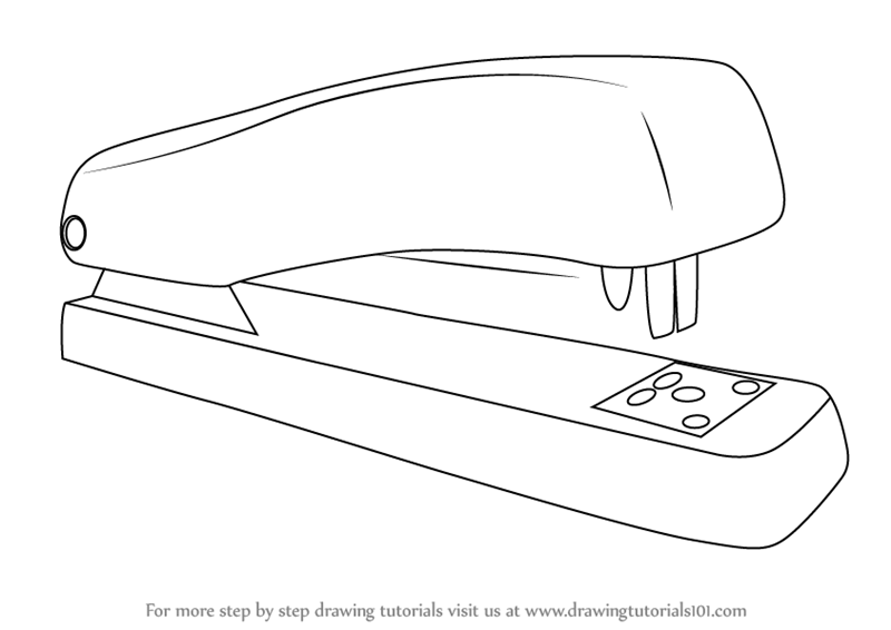 Learn how to draw a stapler tools step by step drawing tutorials