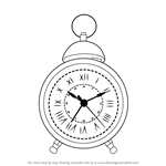 How to Draw a Vintage Clock