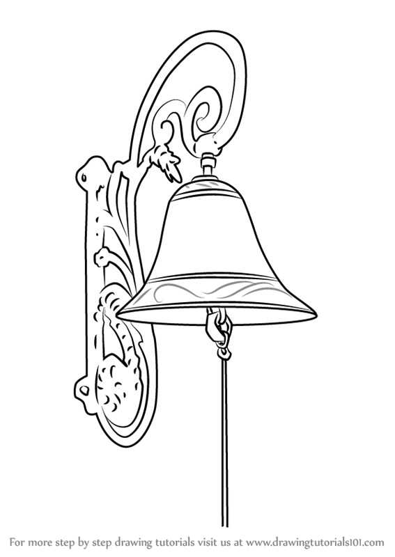 Learn How To Draw Vintage Door Bell Items Step By Drawing Tutorials
