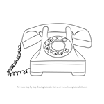 How to Draw a Vintage Phone