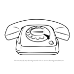 How to Draw Vintage Telephone