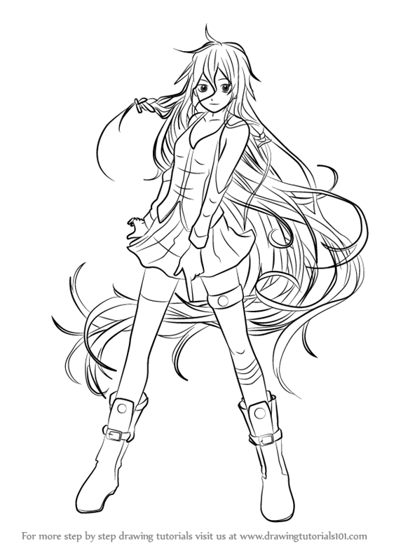 Learn How To Draw Ia From Vocaloid Vocaloid Step By Step