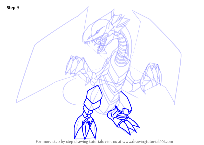 Learn How to Draw Blue-Eyes White Dragon from Yu-Gi-Oh! Official ...