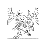 How to Draw Dark Rebellion Xyz Dragon from Yu-Gi-Oh! Official Card Game