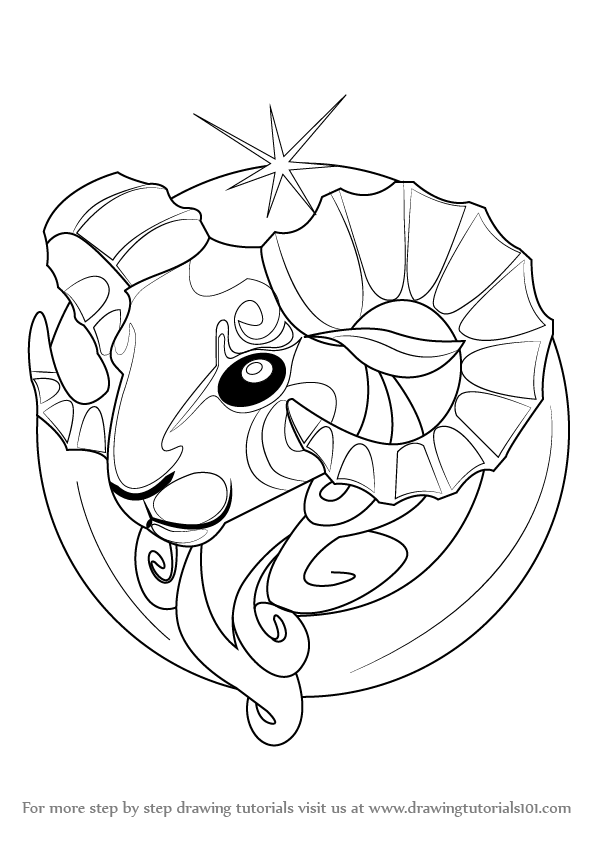 Zodiac Line Drawing : Learn how to draw aries zodiac sign signs step by