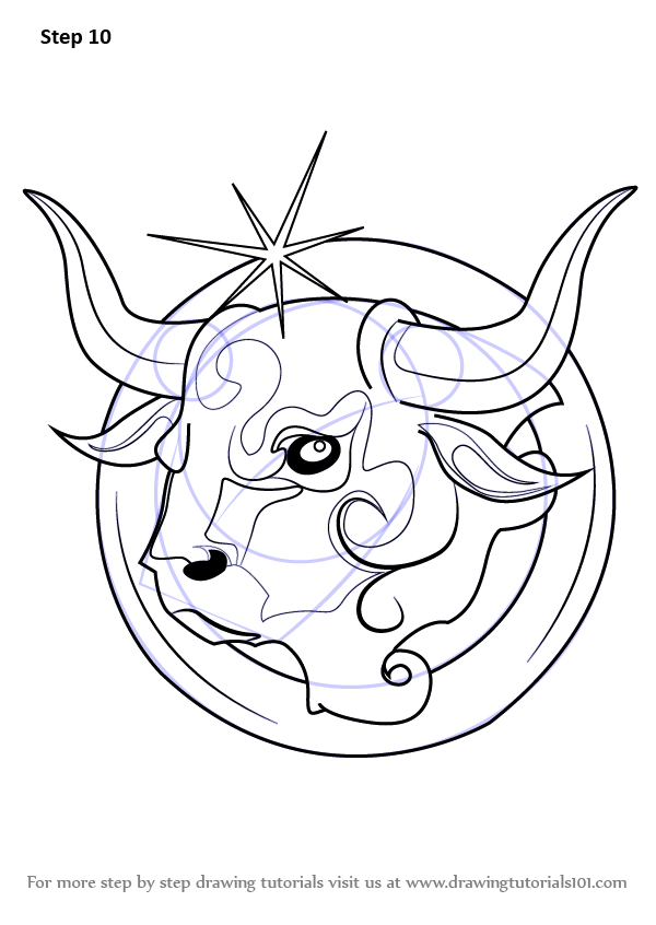 learn how to draw taurus zodiac sign zodiac signs step