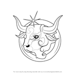 How to Draw Taurus Zodiac Sign
