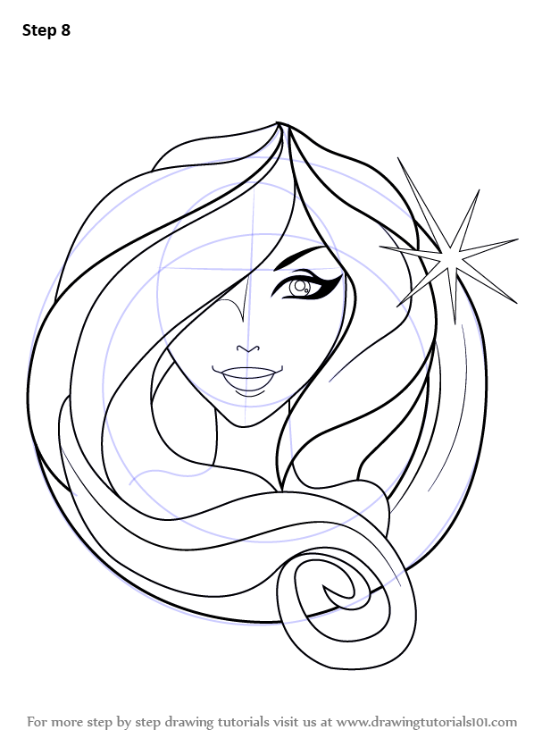 Step By Step How To Draw Virgo Zodiac Sign