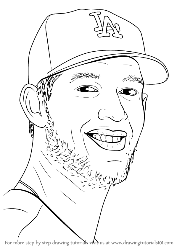 Learn How to Draw Clayton Kershaw