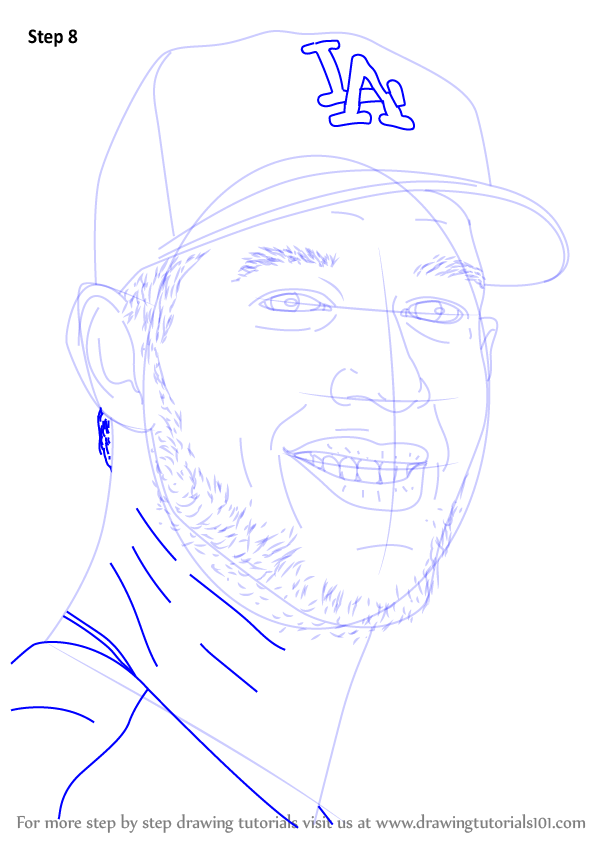 Learn How To Draw Clayton Kershaw Baseball Players Step