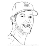 How to Draw Clayton Kershaw