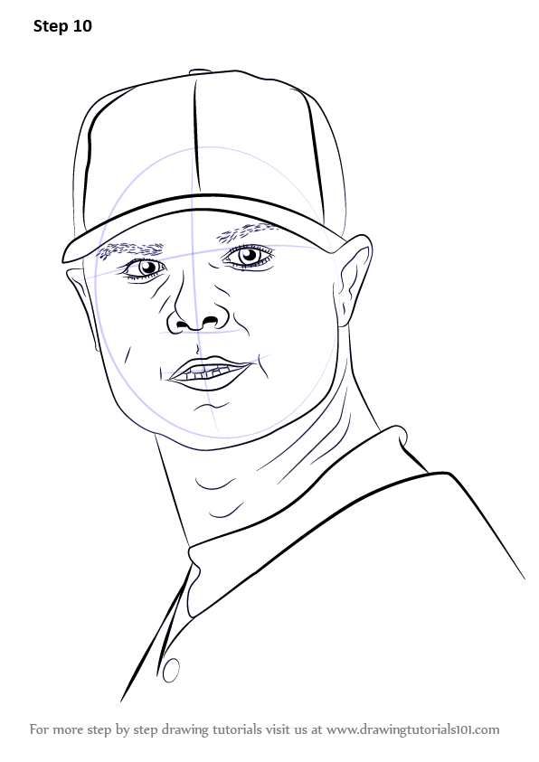 Learn How To Draw Jon Lester Baseball Players Step By