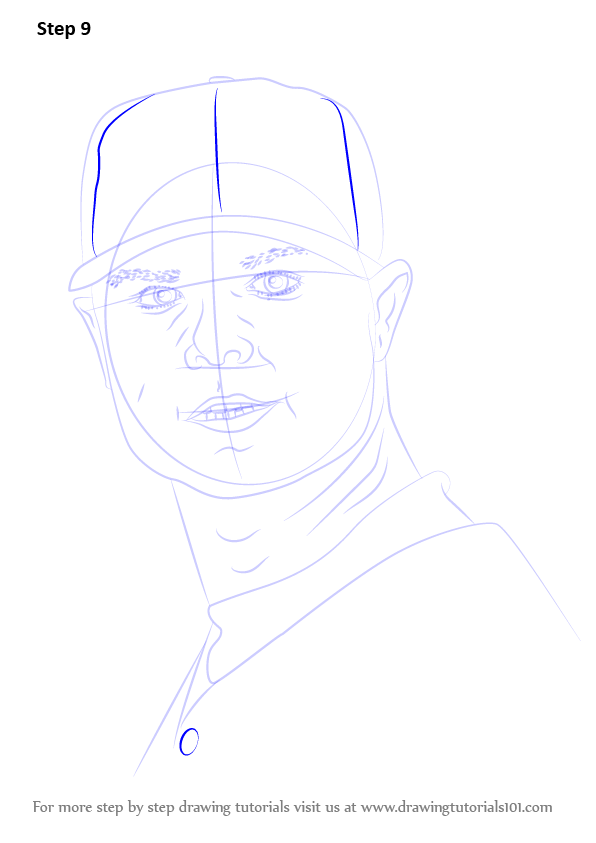 learn how to draw jon lester  baseball players  step by step   drawing tutorials