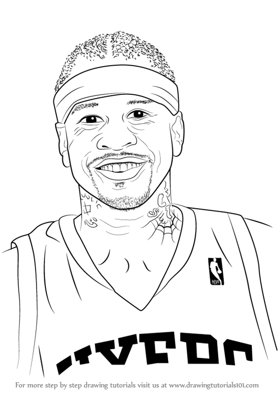 How to draw nba basketball players