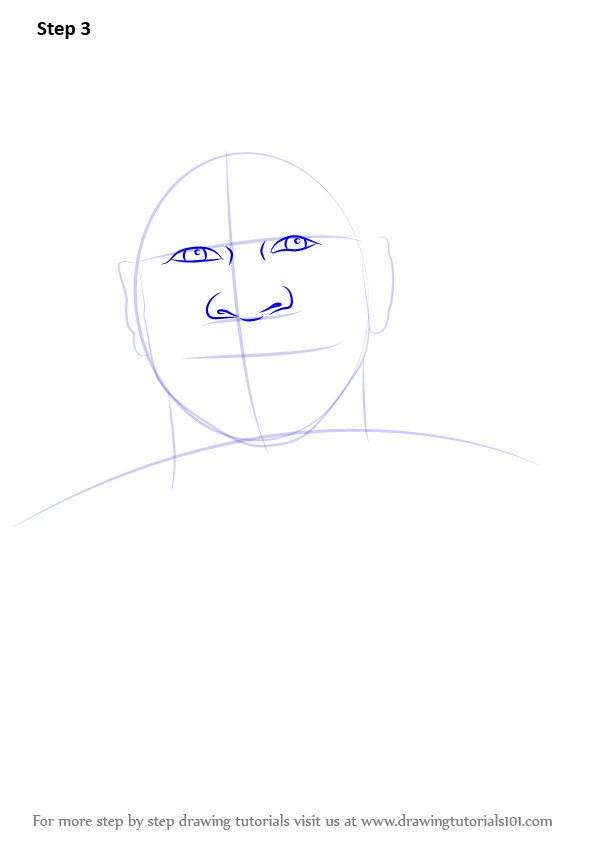 how to draw allen walker step by step