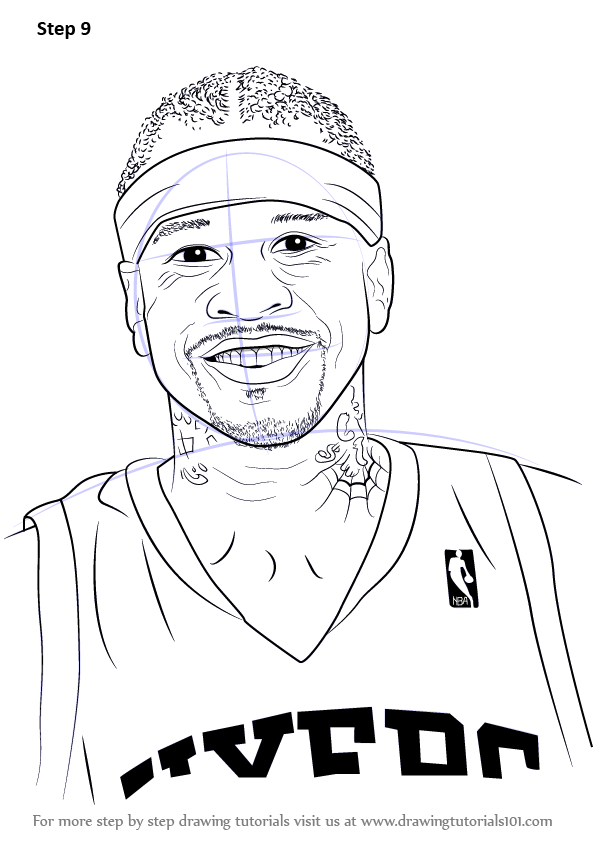 Step By Step How To Draw Allen Iverson