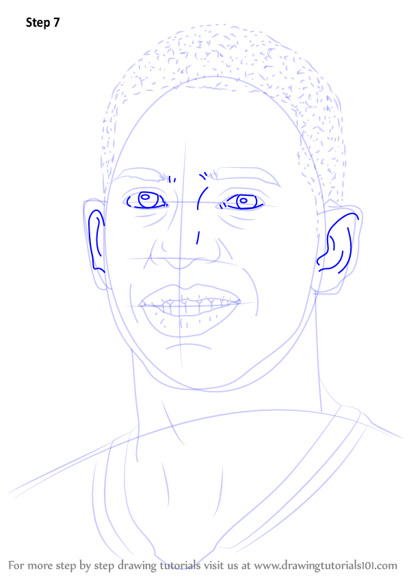 learn how to draw chris paul  basketball players  step by step   drawing tutorials