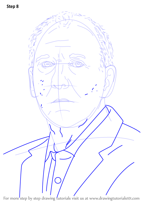 Learn How to Draw Gregg Popovich (Basketball Players) Step ...