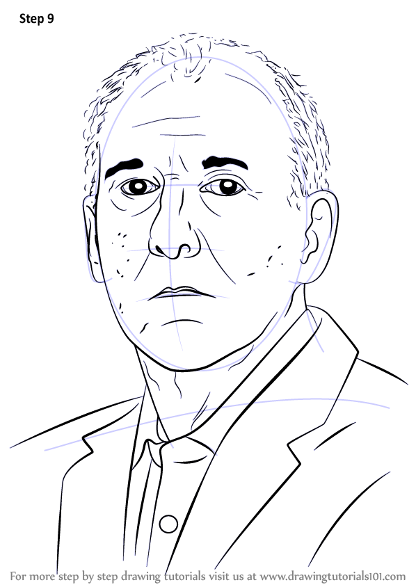 Learn How to Draw Gregg Popovich (Basketball Players) Step