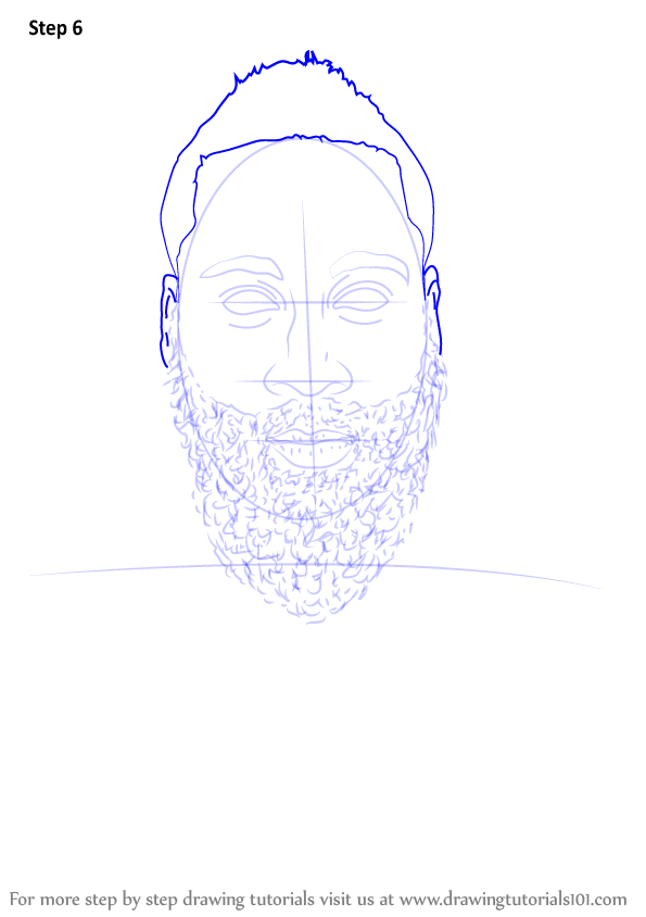 learn how to draw james harden  basketball players  step