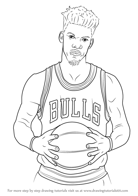Learn How To Draw Jimmy Butler Basketball Players Step