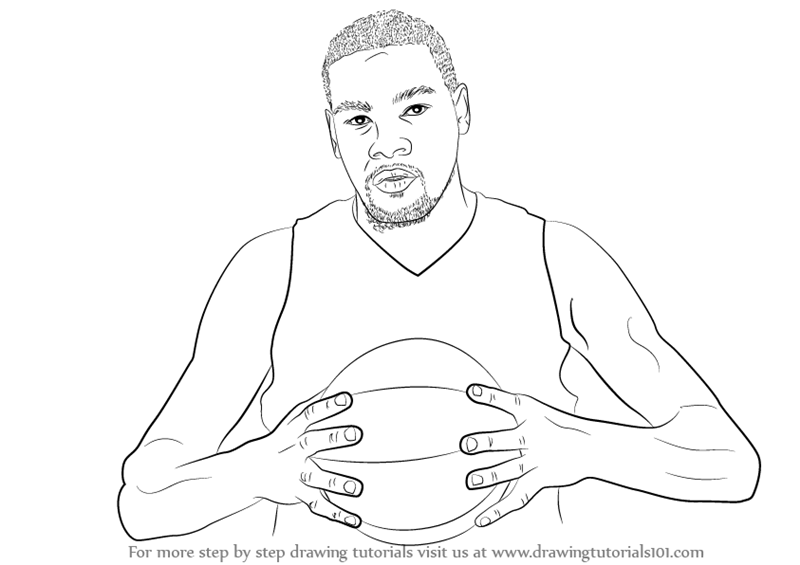 learn how to draw kevin durant basketball players step