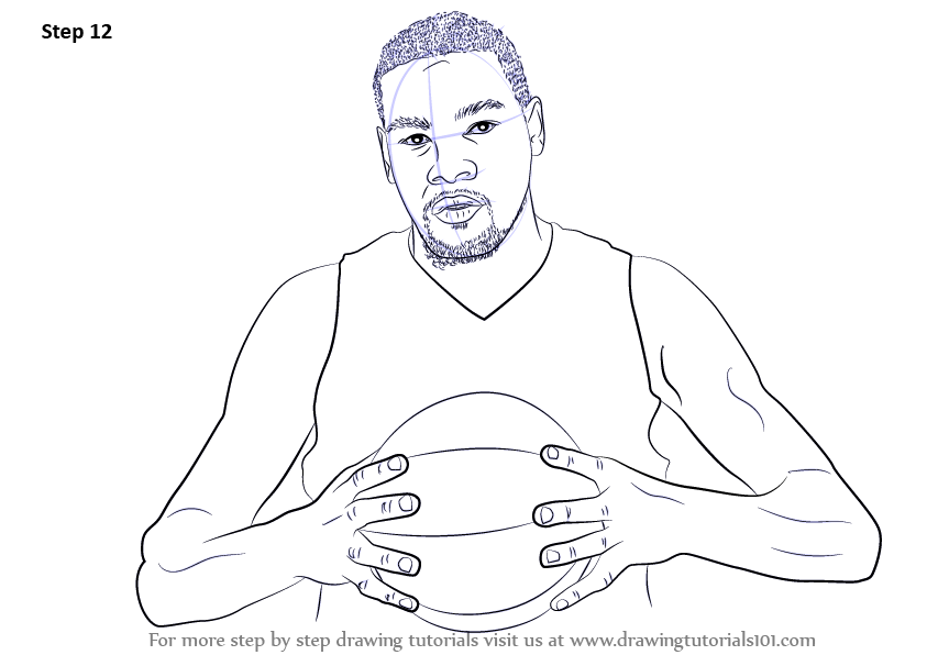 Basketball Player Coloring Pages Kevin Durant