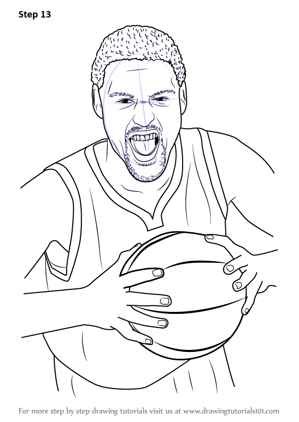 Learn How to Draw Klay Thompson Basketball Players Step