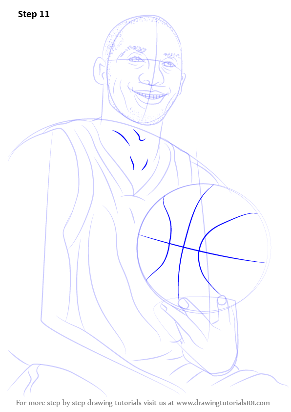 Learn How To Draw Kobe Bryant Basketball Players Step By