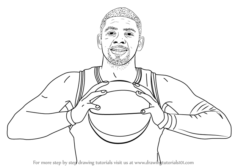 Learn How to Draw Kyrie Irving Basketball Players Step