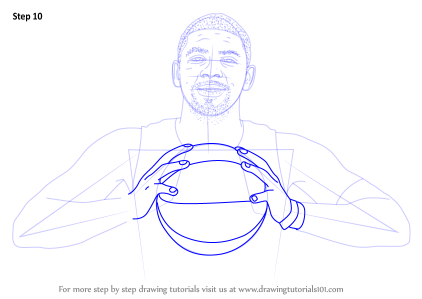separation shoes 42e42 d4e73 Learn How to Draw Kyrie Irving (Basketball Players) Step by Step ...