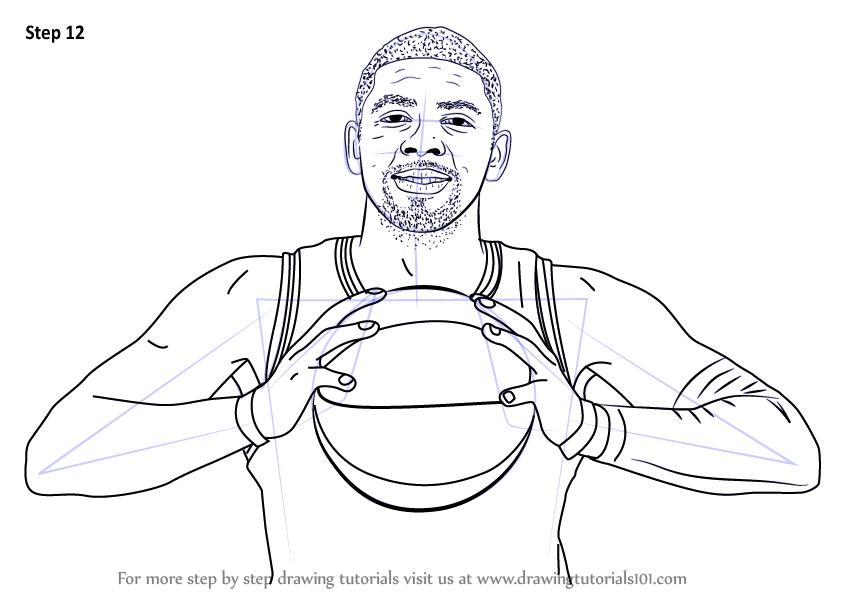 Learn How To Draw Kyrie Irving (Basketball Players) Step