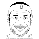 How to Draw LeBron James Face