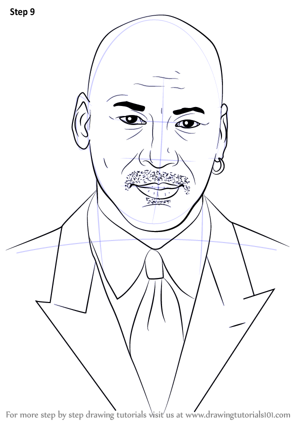 Learn How To Draw Michael Jordan Basketball Players Step By Step Drawing Tutorials