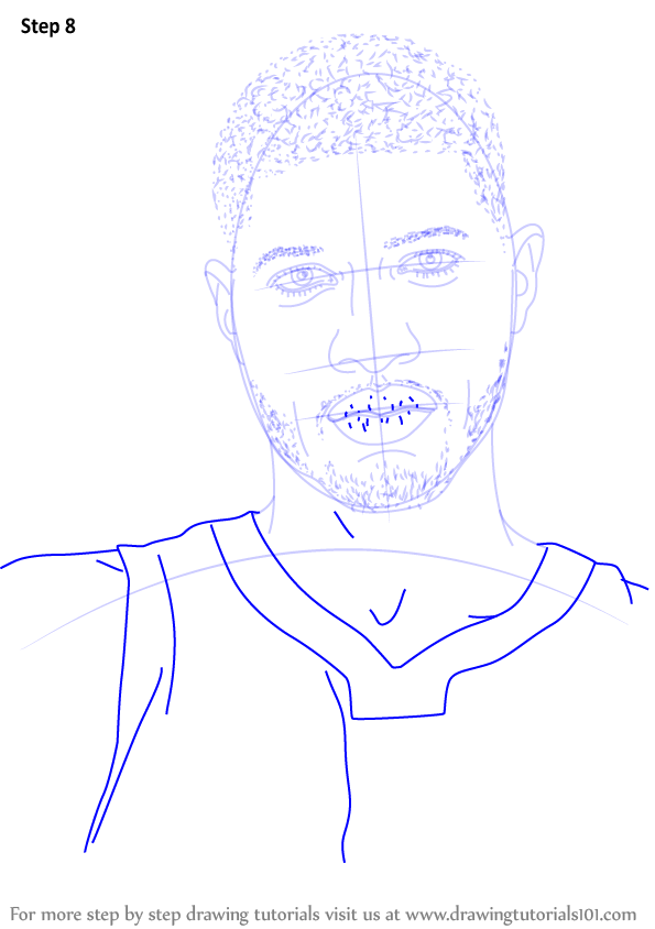 learn how to draw paul george  basketball players  step by