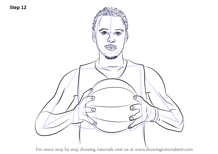 Learn How To Draw Stephen Curry Basketball Players Step
