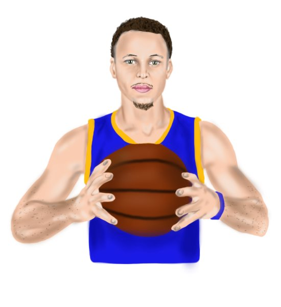 Step by Step How to Draw Stephen Curry