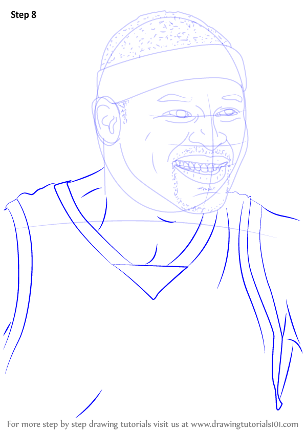 learn how to draw zach randolph  basketball players  step