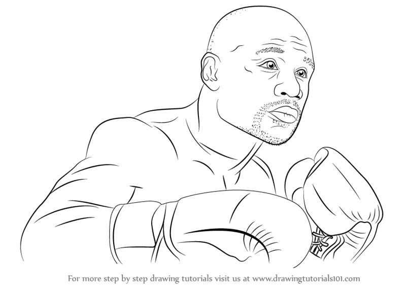 learn how to draw floyd mayweather boxers step by step drawing tutorials